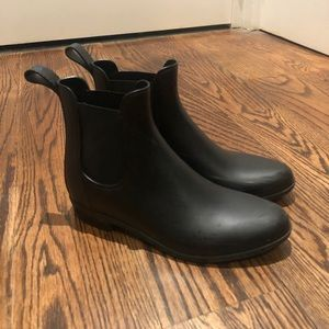 J.Crew Black Rainboots- Size 9